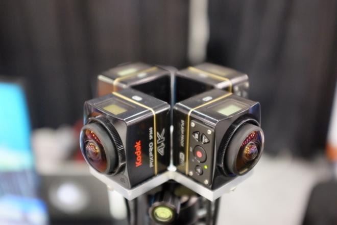 4 x Kodak SP360 4K Rig + External Power