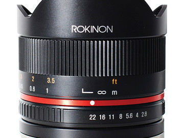 Rent: Rokinon 8mm f/2.8 UMC Fisheye II Lens for Sony E Mount