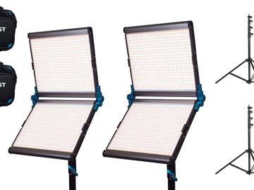Rent: 2 x Dracast LED1000 Silver Foldable Bi-Color LED Light Kit