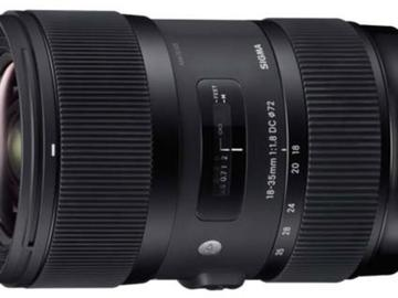Rent: Sigma 18-35 f/1.8 DC HSM Lens for Canon EF Mount