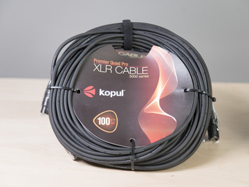Rent: Kopul 4000 & 5000 series XLR Cable 100' Length 700' total