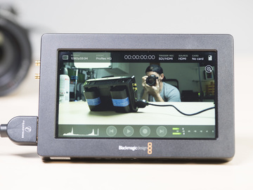 "Rent: Blackmagic Video Assist HDMI SDI Recorder 5"" Monitor #1"