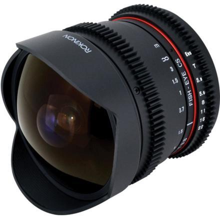 Rokinon 8mm T3.8 Fisheye Cine Lens for Canon EF Mount