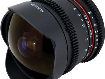 Rent: Rokinon 8mm T3.8 Fisheye Cine Lens for Canon EF Mount
