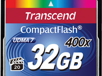 Rent: Transcend 32GB CompactFlash Memory Card 400x UDMA
