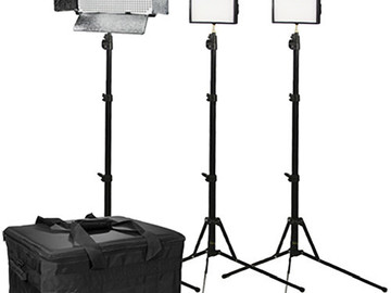 Rent: Portable Ikan 3 Light Dual Color Interview Kit