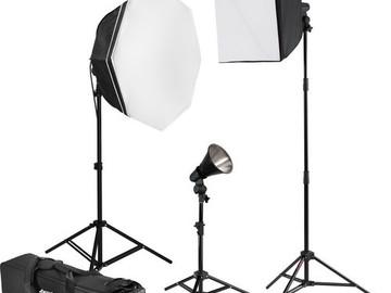 Portable Westcott uLite 3-Light 1100W Tungsten Kit