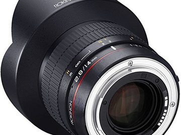 Rent: Rokinon 14mm f/2.8 Wide Angle Lens AE Chip for Canon EF