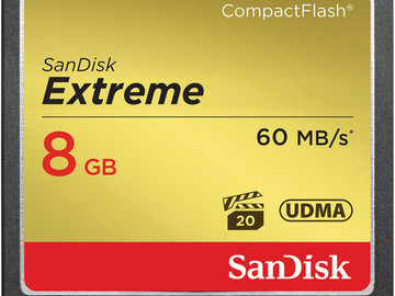 Rent: SanDisk 8GB CompactFlash Memory Card Extreme 400x UDMA