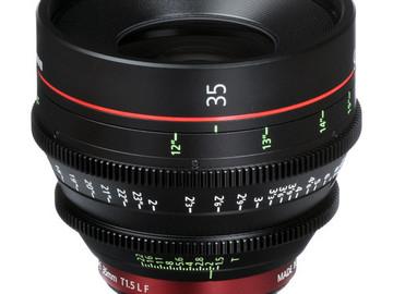 Rent: Canon CN-E 35mm T1.5 L F Cine Lens (EF-Mount   Prime)
