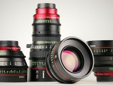 Rent: Canon Cine Lens Set 30-105mm + 24 50 85mm Zoom&Primes Kit