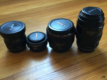Rent: Canon EF Prime Lens Package