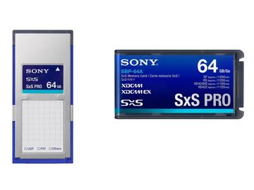 Rent: 4x Sony 64GB SxS PRO Card Package