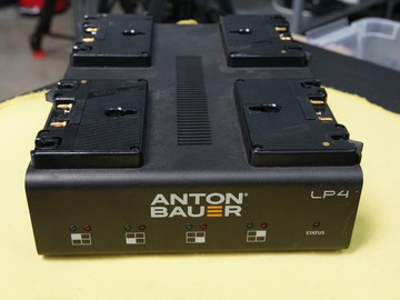 Rent: Anton Bauer LP4 Quad Gold-Mount Battery Charger