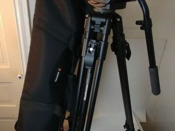 Rent: Manfrotto Video Tripod - 351MVB2 legs with 501HDV fluid head
