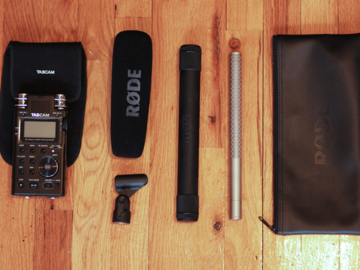 Rent: NTG3 Condenser Shotgun + Tascam DR-100mkII Recorder Sound Ki