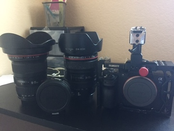 Rent: Sony A7sii with Cage, L Series EF lenses and Metabones
