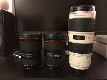 Rent: Canon L Series Set | 16-35 F4 | 24-70 F2.8 | 70-200 F2.8