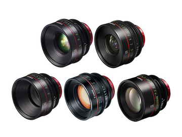 Rent: Canon Cine 5 Lens Package 24 | 35 | 50 | 85 | 135 Prime Set