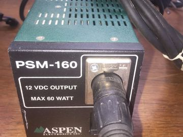 Rent: Aspen PSM-160 12v DC 4 pin XLR Camera Power Supply