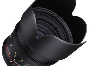 Rent: Rokinon 50mm T/1.5 AS UMC EF Canon Mount