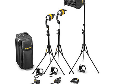 Rent: DedoLight DLED4, 3 Light Kit with Projector, Soft Box, etc