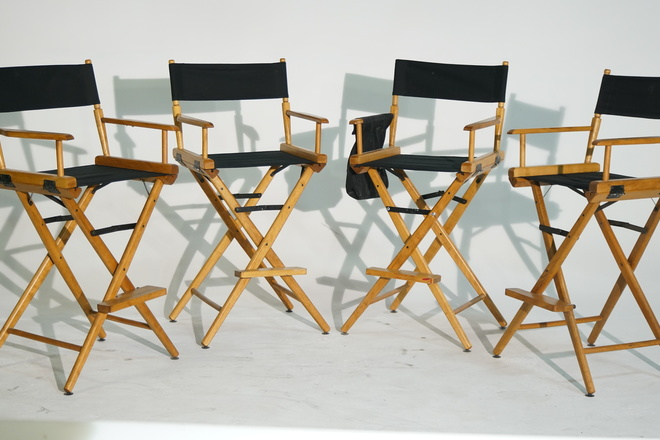 4 Telescope Tall Directors Chairs