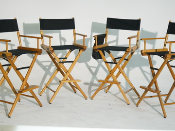 Rent: 4 Telescope Tall Directors Chairs