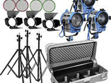 Rent: Arri 3 Light Fresnel/Openface  Kit
