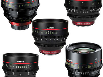 Canon CN-E EF Mount Cinema Prime 5 Lens Kit