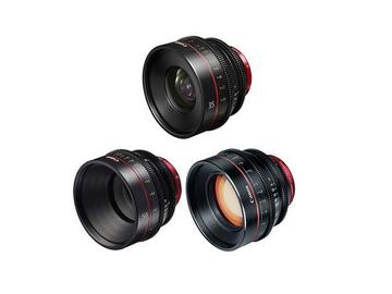 Rent: Canon Cine 3 Lens Package  35mm | 50mm | 85mm  Prime Set