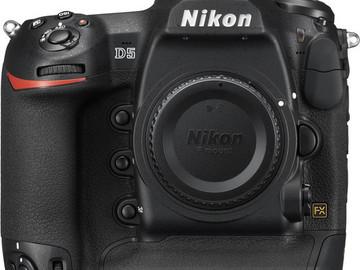 Rent: Nikon D5 DUAL XQD   (2)128 GB LEXAR XQD w/READER