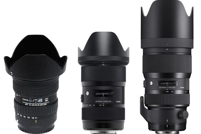 High-Speed EF zoom lens kit (11-16/18-35/50-100) f1.8-2.8