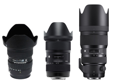 Rent: Tokina/Sigma Art zoom lens package
