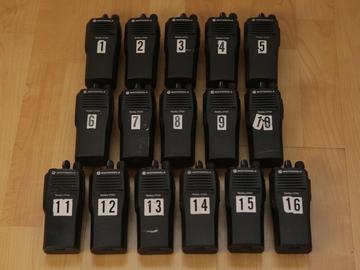 Rent: (16) Motorola CP200 UHF 16ch Walkies w/ Headsets