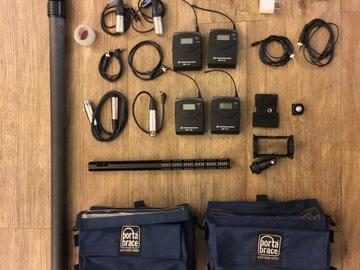 Rent: Tascam DR-60 Sound Kit (2 EW100 Lavs/1 Shotgun/Sennheiser)