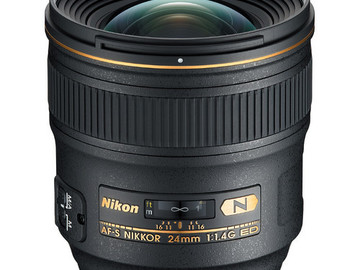 Rent: Nikon Nikkor Wide‑Angle Lens for Nikon F ‑ 24mm ‑ F/1.4