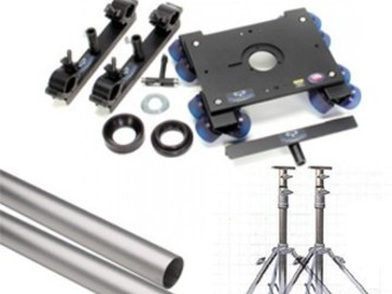 Rent: Dana Dolly Portable Dolly System with Track Ends and Rails.