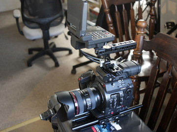 Rent: C300 Mkii w/ Wooden Camera Baseplate and Top Handle