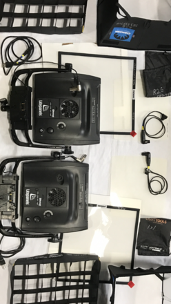 2 Astras Hi (Output) w Chimera/Grid, AB plate & Stands