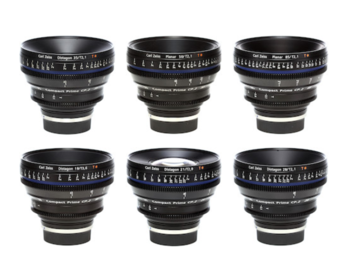Rent: Zeiss CP.2 T2.1 EF Set (18mm, 21mm, 28mm, 35mm, 50mm, 85mm)