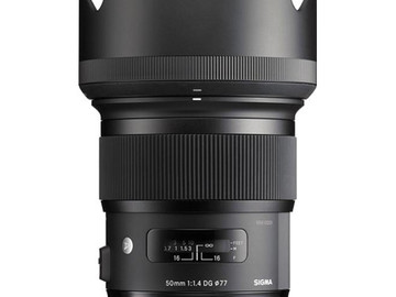 Rent: Sigma 50mm f/1.4 DG HSM Art Lens for Canon EF
