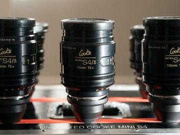 Rent: Set of 6 Mini Cooke S4/i Uncoated Lenses