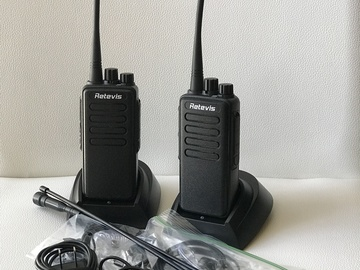 Rent: 2 Walkie Talkie radios Motorola like Retvis RT1 w headsets