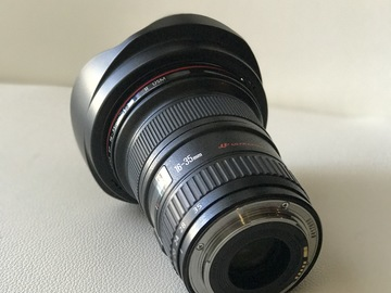 Rent: Canon 16-35 T2.8 II zoom with UV, Polarizer & ND filters