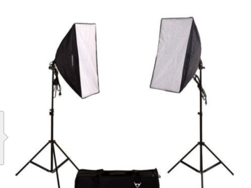 Rent: 2-Light SoftBox Kit, Fluorescent Lamps 5500K Bulb