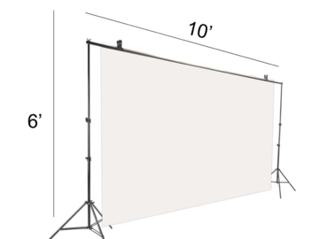 Rent: Light Weight Back Drop Support Kit
