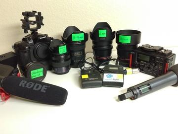 Rent: GH4 Full Kit for 1 camera shoot inc lenses & sound