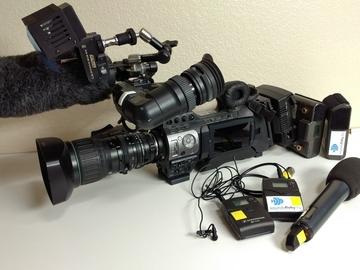Rent: JVC GY-HM750U ENG CAMERA KIT with sound & tripod