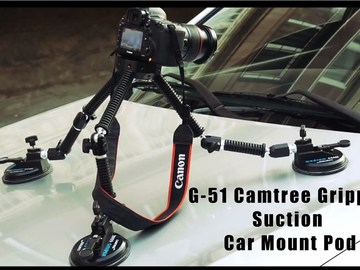 Rent: CAMTREE G-51 Gripper Car Suction Mount